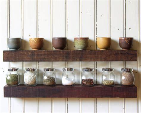 reclaimed wood floating shelves set
