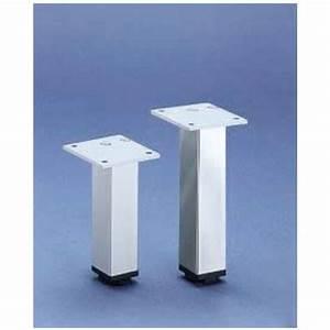 Pied De Meuble Reglable : pied de meuble carr en aluminium 30 x 30 hettich bricozor ~ Dailycaller-alerts.com Idées de Décoration