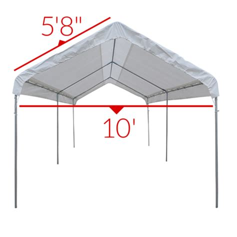 heavy duty mil valance replacement canopy tarp carport cover clear ebay