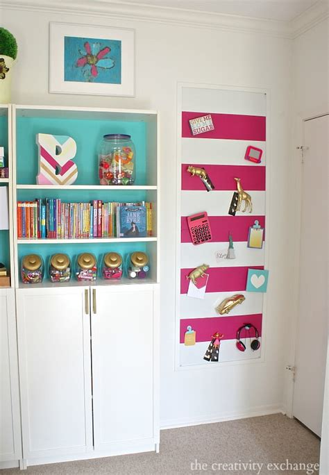 large diy magnetic board painted  fabric covered