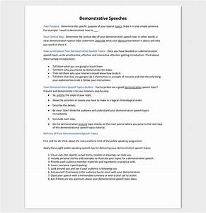 speech outline template 38 samples examples and formats With demonstration speech outline template