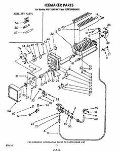 Ice Maker Diagram  U0026 Parts List For Model Krff15mswhy0 Kitchenaid
