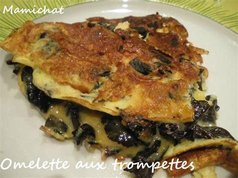 cuisiner les trompettes de la mort omelette aux trompettes de la mort le de chantal76