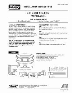 Mallory Ignition Mallory Circuit Guard 29371 User Manual