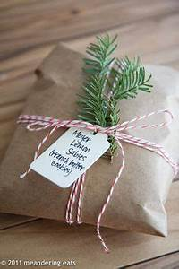 Keep the wrapping for your cookies really simple with