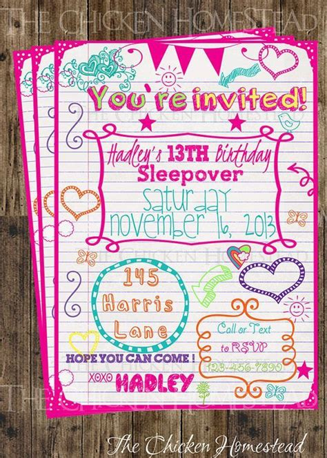 image result  sleepover invitations   year olds