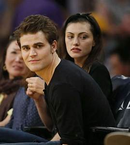 Phoebe Tonkin and Paul Wesley at La Lakers Game -19 - GotCeleb