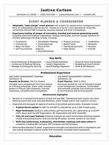 Event coordinator resume sample monstercom for Event planner resume
