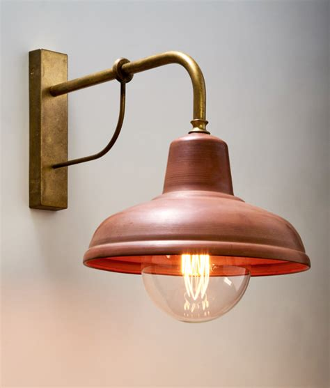 deksel aged copper interior wall pendant exterior wall