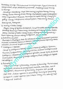 Psychology class notes Vajiram and Ravi Mukul Pathak Sir