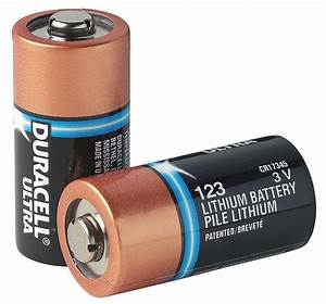 DURACELL Battery, Lithium, Size 123, 3VDC, PK10 - 24T963 ...