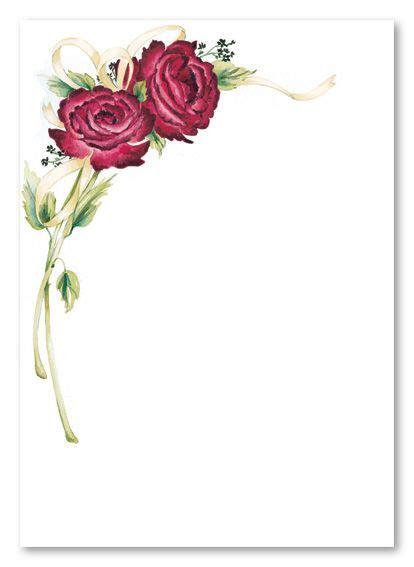 customize   printable rose stem blank card