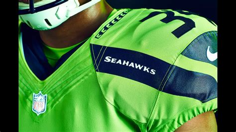 seahawks reveal action green uniform youtube