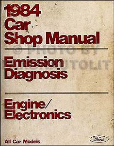 1984 Lincoln Town Car Factory Foldout Wiring Diagram Original