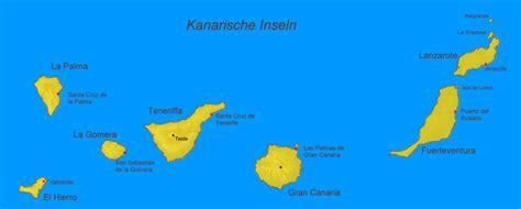 landkarte kanarische inseln deutschland karte
