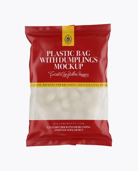 Graphicriver amber plastic jar mockup set 3 free download. Frosted Plastic Bag With Dumplings & Matte... | Mockup ...