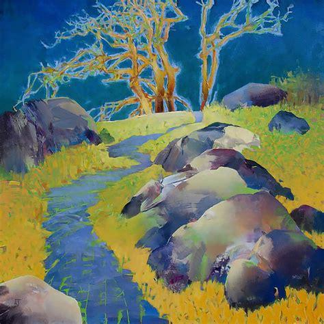 randall david tipton painterly  abstract landscapes