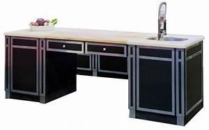 ilot central beauvilliers plateau marbre et bois evier With meuble de cuisine ilot central 8 ilot central cuisine industriel belle cuisine nous a