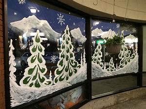 Christmas, Winter, Window, Painting, Victoria, City, Victoria