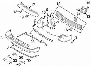 Ford Taurus X Bumper Cover Bracket  Inner  Right  Rear
