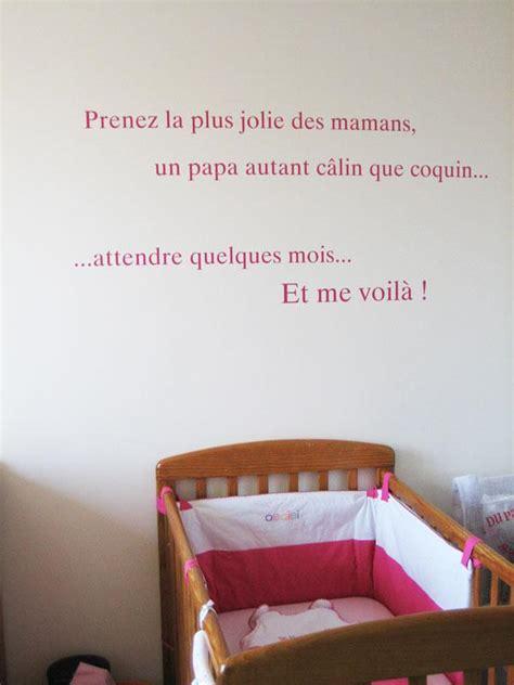 stickers phrase chambre bébé sticker phrase pour chambre de bébé à découvrir