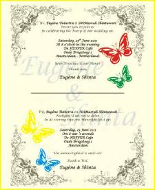 free wedding sles wedding invitation quotes in for friends wedding