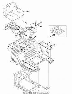 Troy Bilt 13a278ks066 Tb42  2014   13a278ks066 Bronco  2014  Parts Diagram For Seat  U0026 Fender