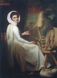 George Romney, The Spinstress: Portrait of Emma Hart ...