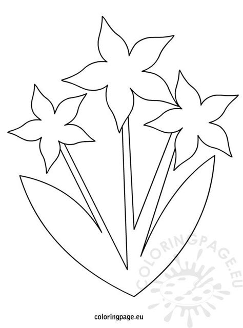 flowers template coloring page