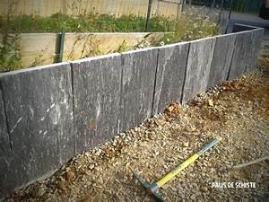 muret de soutenement en schiste guichen paysagiste With muret de soutenement jardin