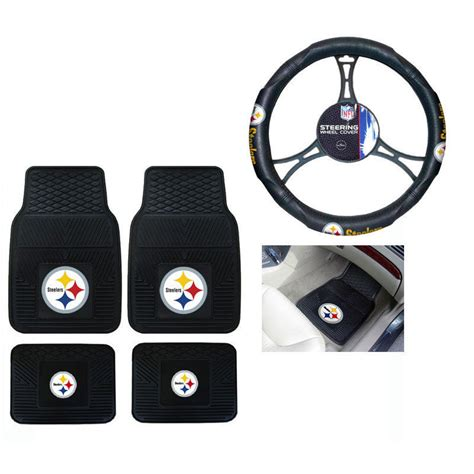 steelers floor mats for jeep new nfl pittsburgh steelers car truck front back floor
