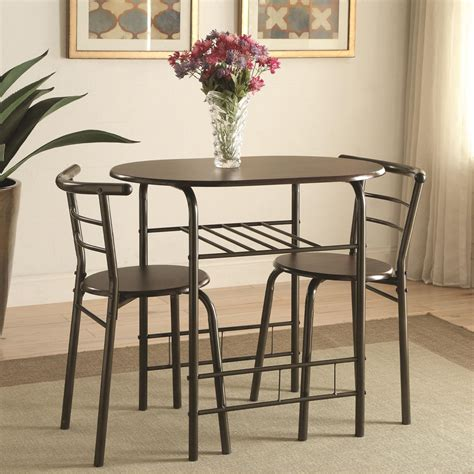 dinettes pcs small space dining room set brown oval table
