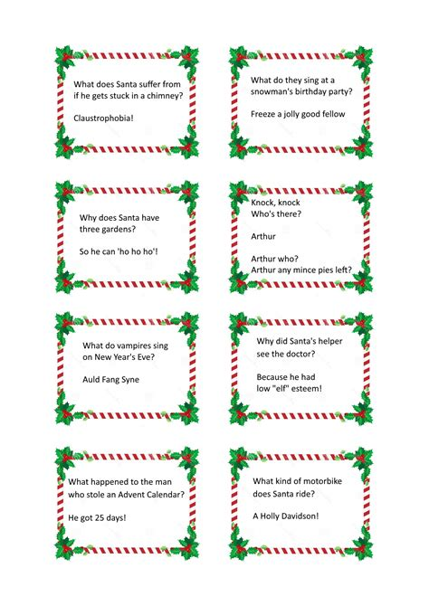 christmas cracker jokes free craft downloads