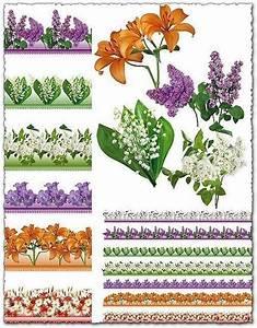 Psd, Floral, Border, Frames