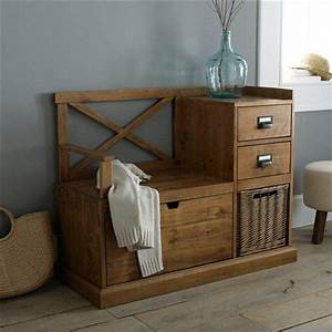 Meuble A Chaussure Banc : exceptionnel meuble a chaussure en bois de palette 10 banc dentr233e lindley la redoute ~ Preciouscoupons.com Idées de Décoration