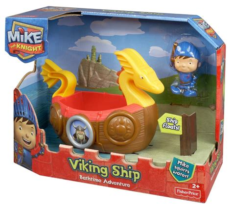 Fisher Price Bath Toy Boat by Mattel Fisher Price Mike The Knight Viking Swimming