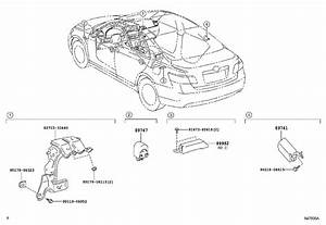 2011 Toyota Camry Keyless Entry Antenna  System  Starting  Push