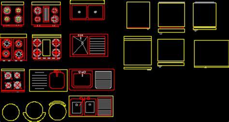 kitchen equipments  dwg block  autocad designs cad