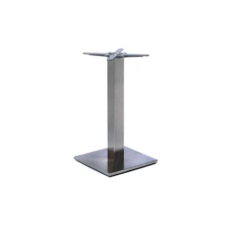 Profile Stainless Square Dining Table Base  Forest Contract