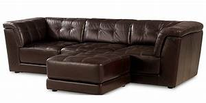 Stacey leather 4 piece modular sectional sofa from macy39s for Homey design sectional sofa