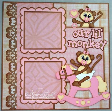 Premade Scrapbook Page Layout Paper Piecing 12x12 Baby ...