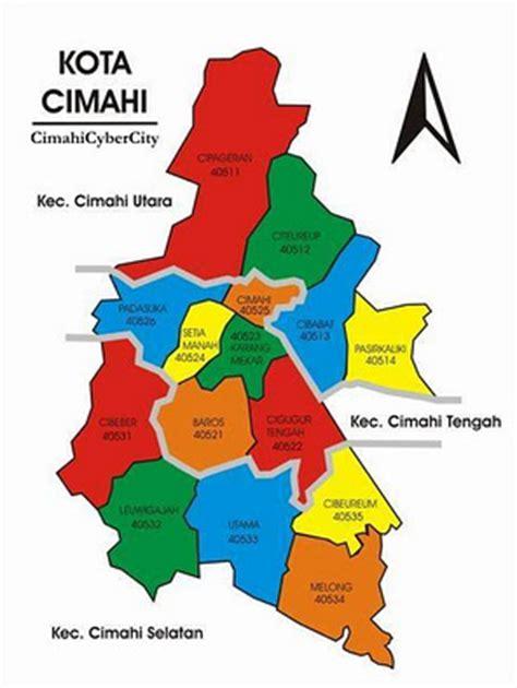 peta kota cimahi lengkap gambar peta lengkapfoto kotajalan