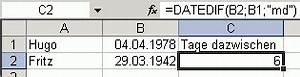 Alter In Excel Berechnen : datedif excel funktion berechnet differenzen zwischen ~ Themetempest.com Abrechnung