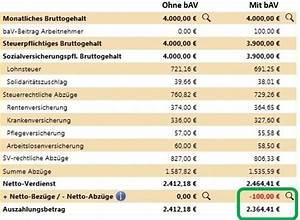 Altersvorsorge Berechnen : betriebliche rentenversicherung auszahlen lassen kfz versicherung ~ Themetempest.com Abrechnung