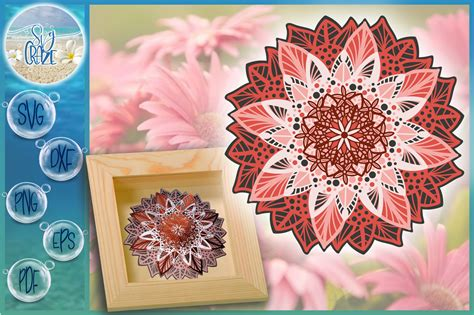 Download cricut mandala svg free graphic type that can be scaled to use with the silhouette cameo or cricut. 3D Floral Mandala Multi Layered Mandala SVG Files for ...