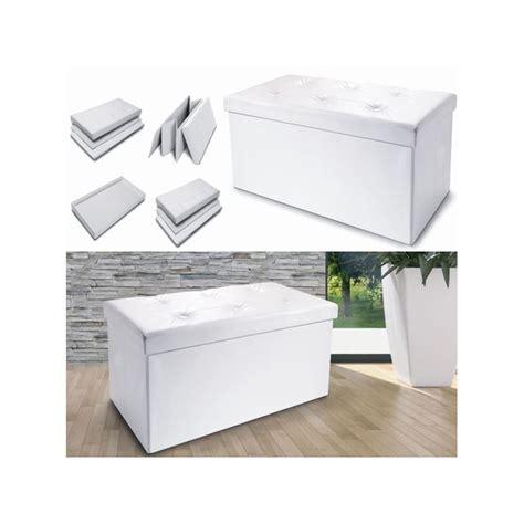 banc coffre de rangement blanc banc coffre rangement pliable blanc gm 100x38x38 cm meubles et am 233