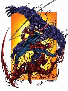 #Spiderman #Fan #Art. (Spiderman Vs Venom Vs Carnage) By ...