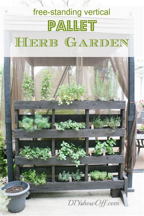 Vertical Herb Garden Pallet by Outdoor Herb Garden Ideas The Idea Room