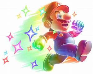 Image Starman Mario Artwork New Super Mario Bros Wii