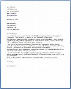 real estate cover letter examples resume downloads With real estate offer cover letter example